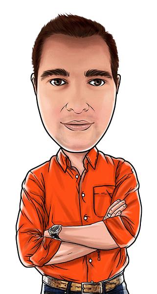 Caricature of Simon